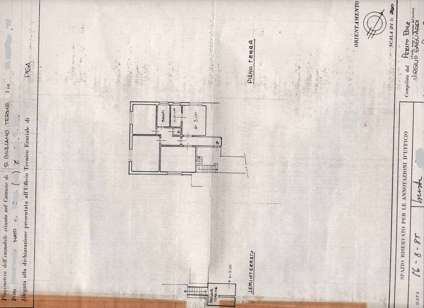 Planimetria /1 per rif. sd5156v