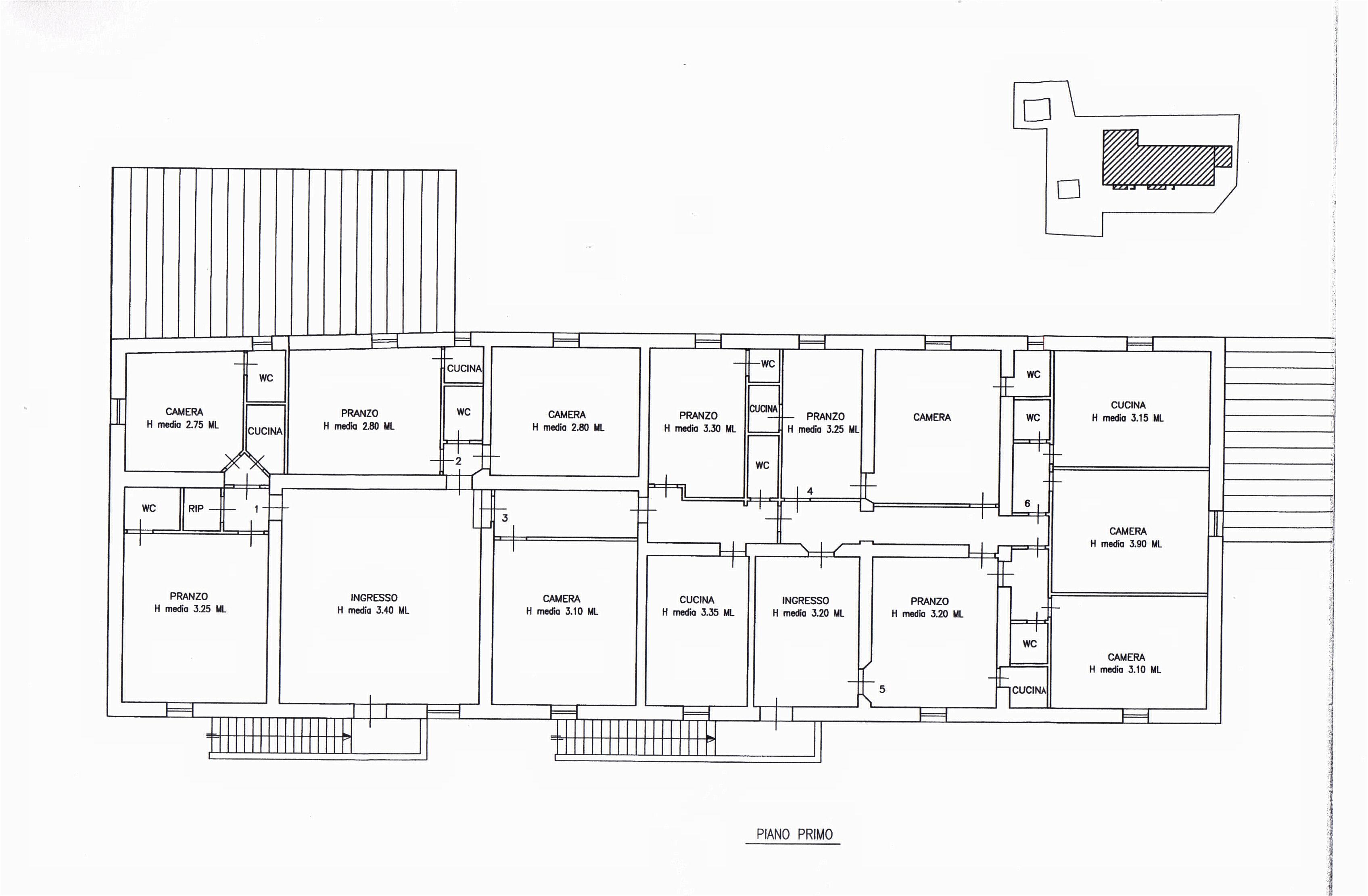 Planimetria 2/3 per rif. sd5162v