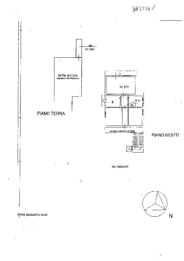 Planimetria /1 per rif. sd5226v