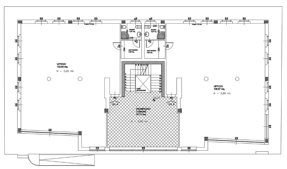 Planimetria 3/4 per rif. sd5249v