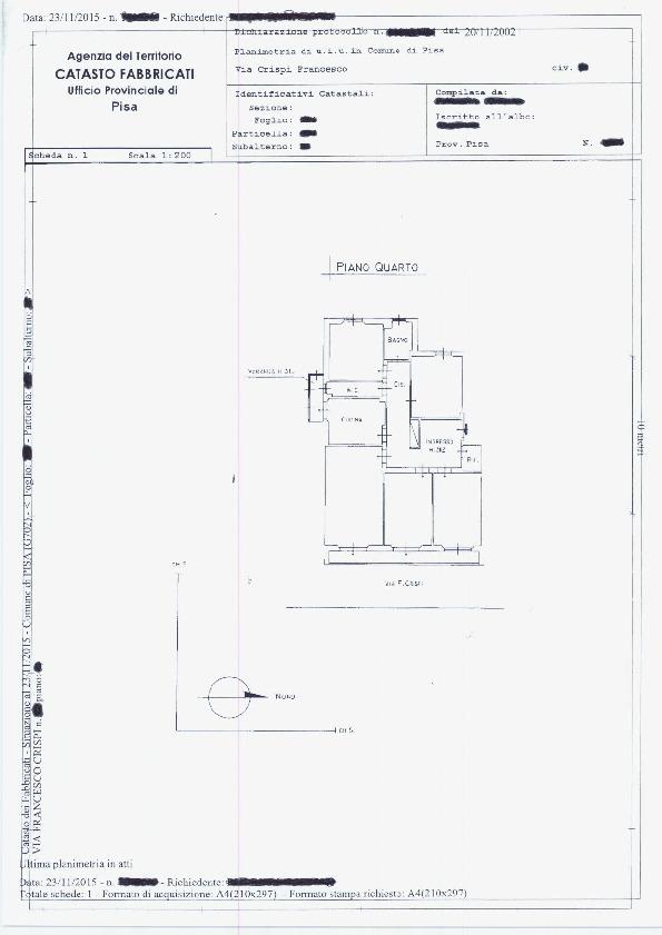 Planimetria /1 per rif. sd5269v