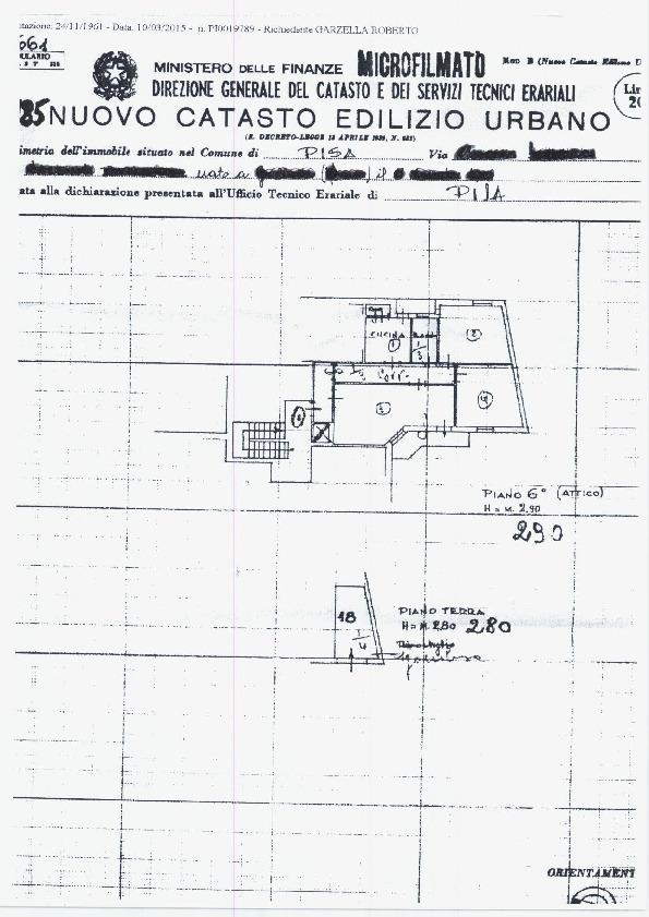 Planimetria /1 per rif. sd5270v