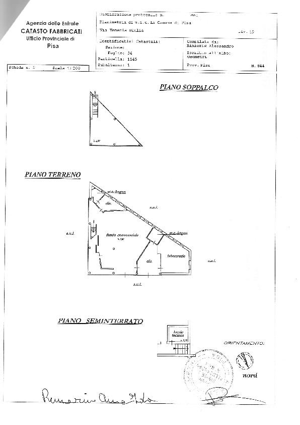 Planimetria /1 per rif. sd488a