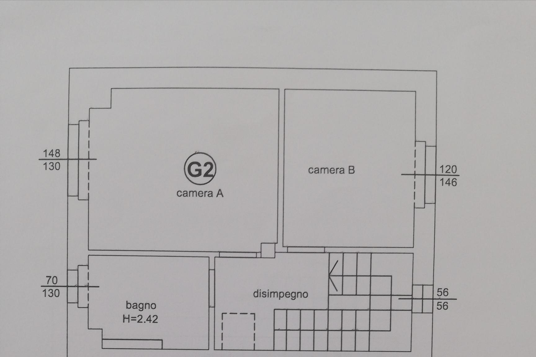 Planimetria 1/3 per rif. sd5198v