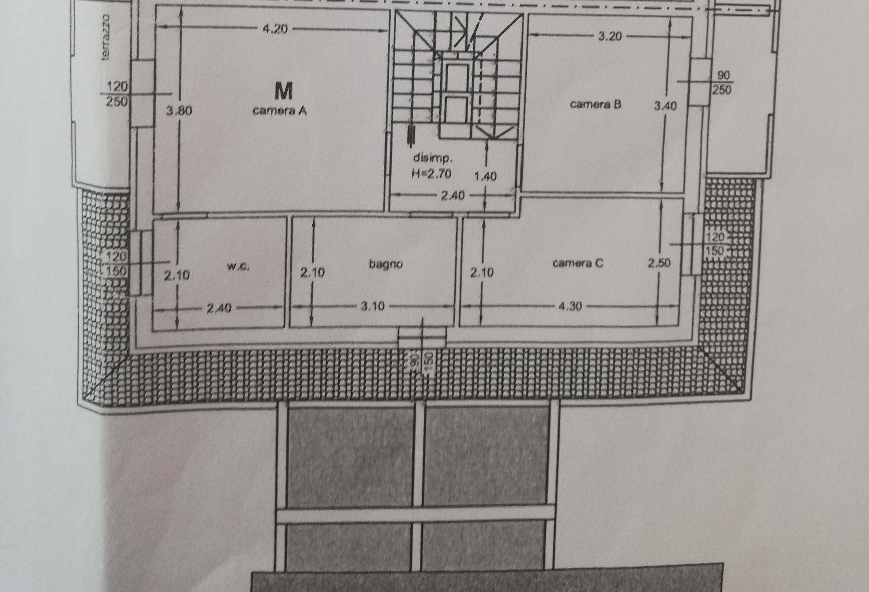 Planimetria 1/3 per rif. sd5183v