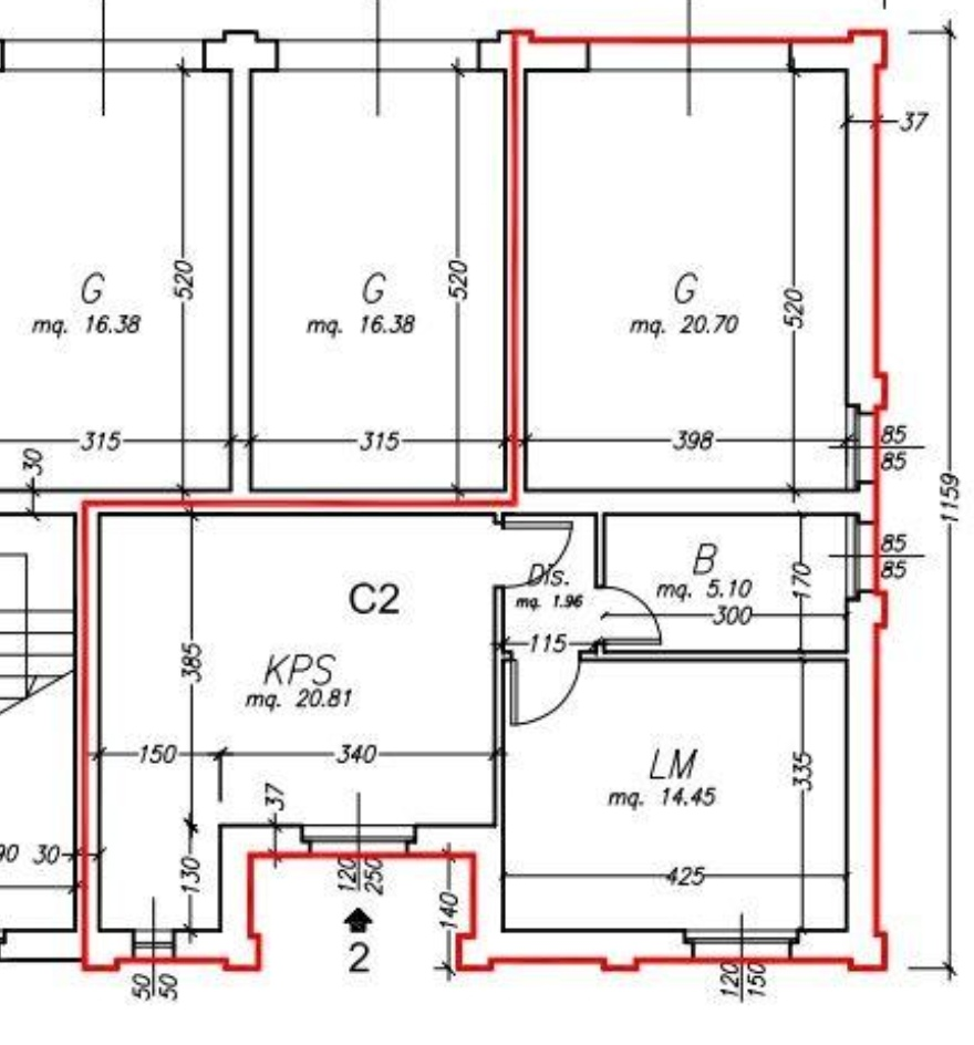Planimetria /1 per rif. sd5826v