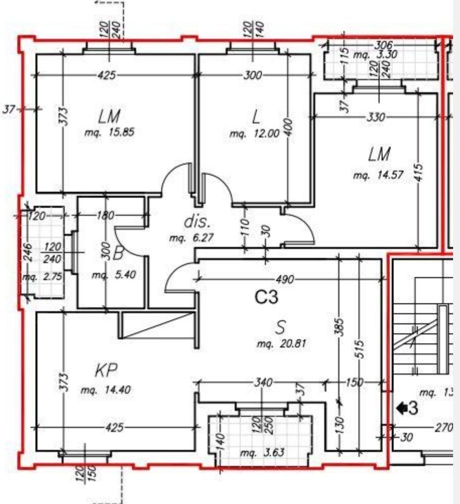 Planimetria /1 per rif. sd5827v