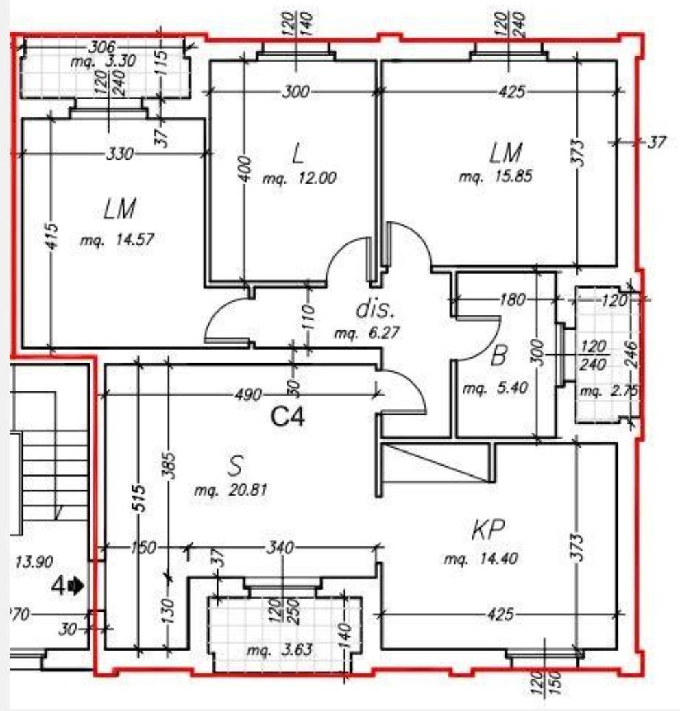 Planimetria /1 per rif. sd5828v