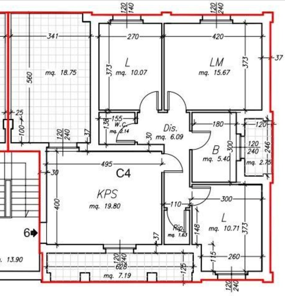 Planimetria /1 per rif. sd5830v