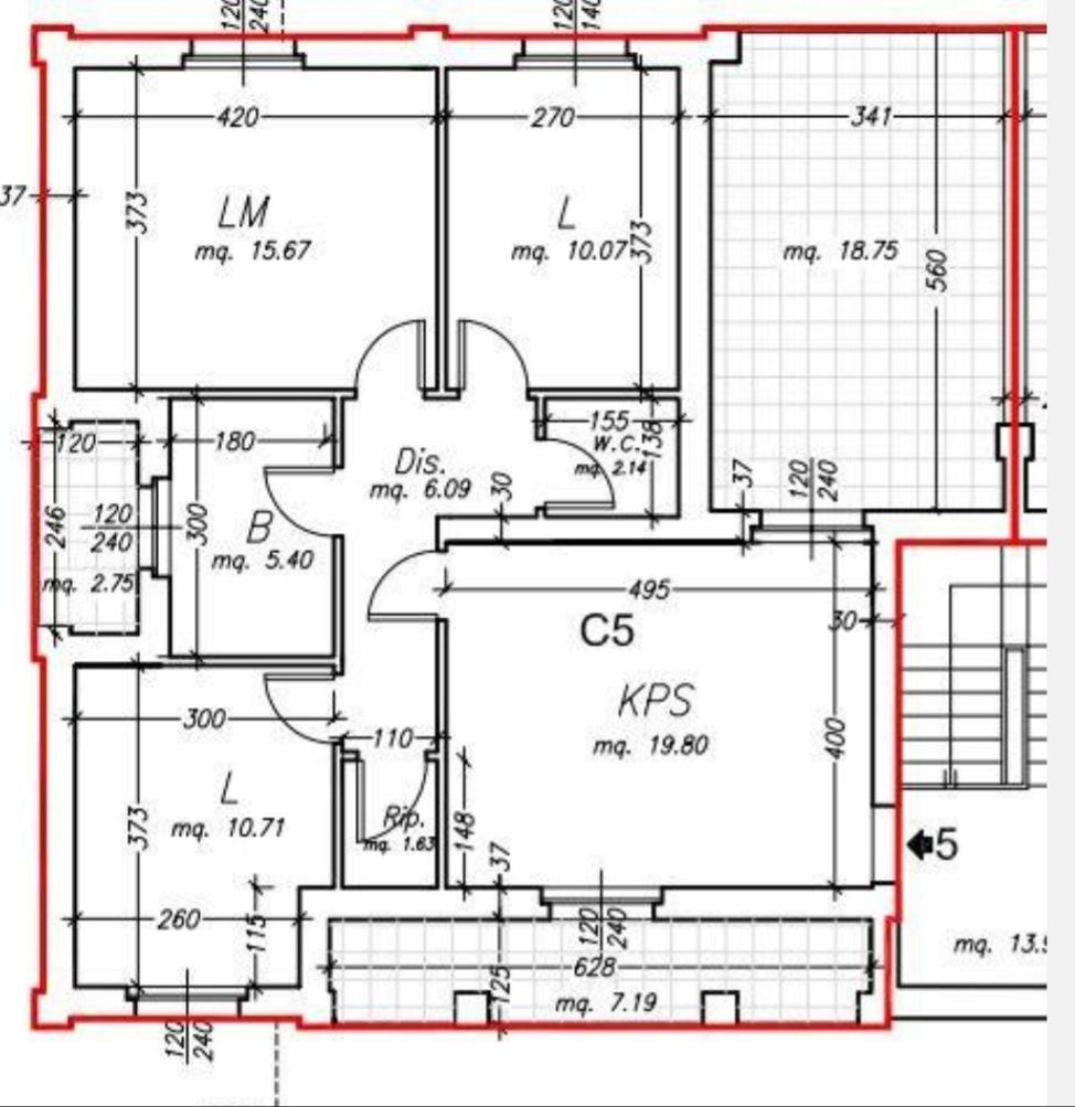 Planimetria /1 per rif. sd5831v