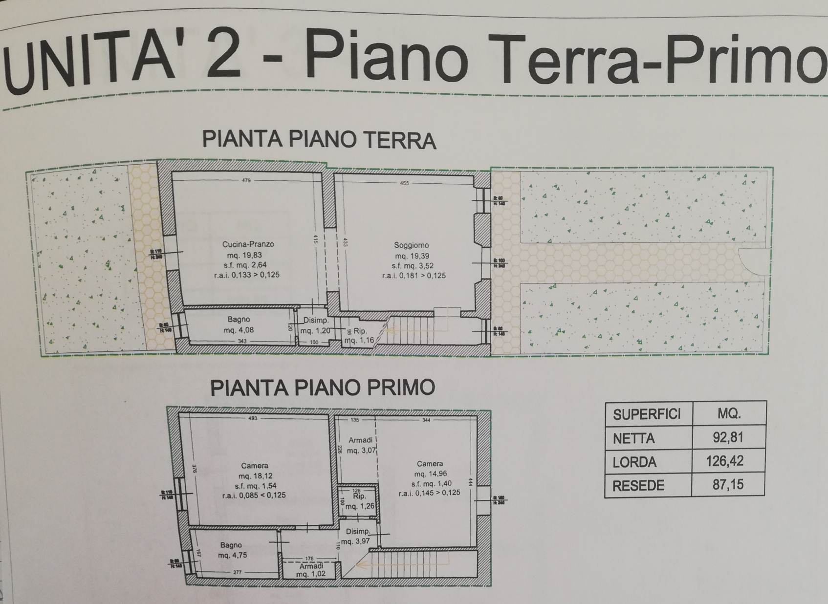 Planimetria /1 per rif. SD5869V