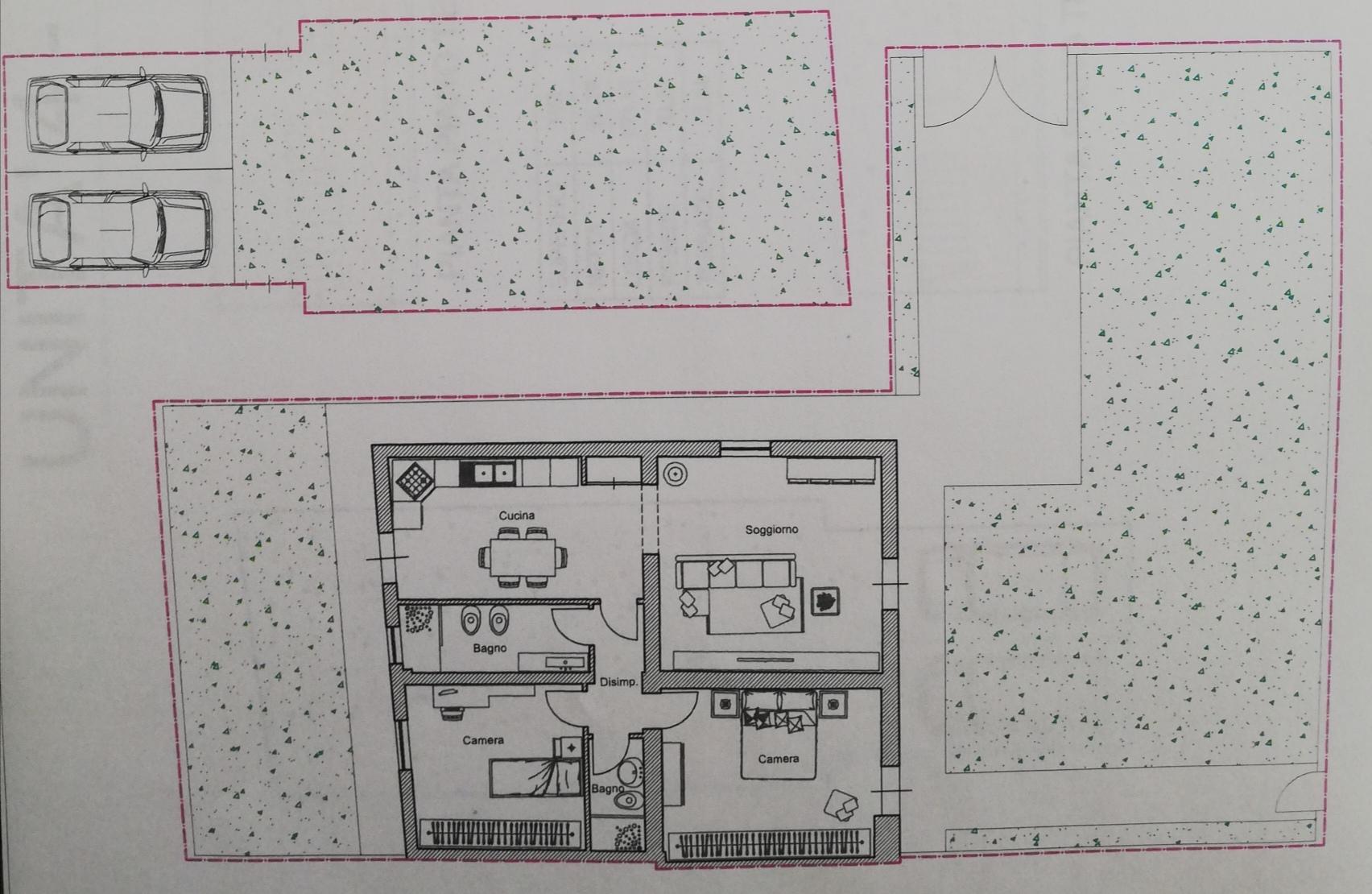 Planimetria 1/2 per rif. SD5870V