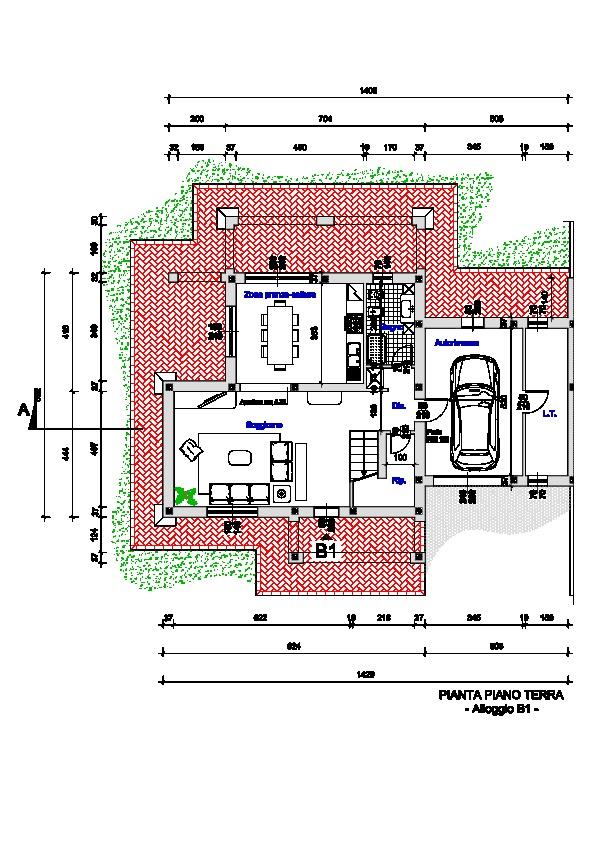 Planimetria 1/3 per rif. 332a
