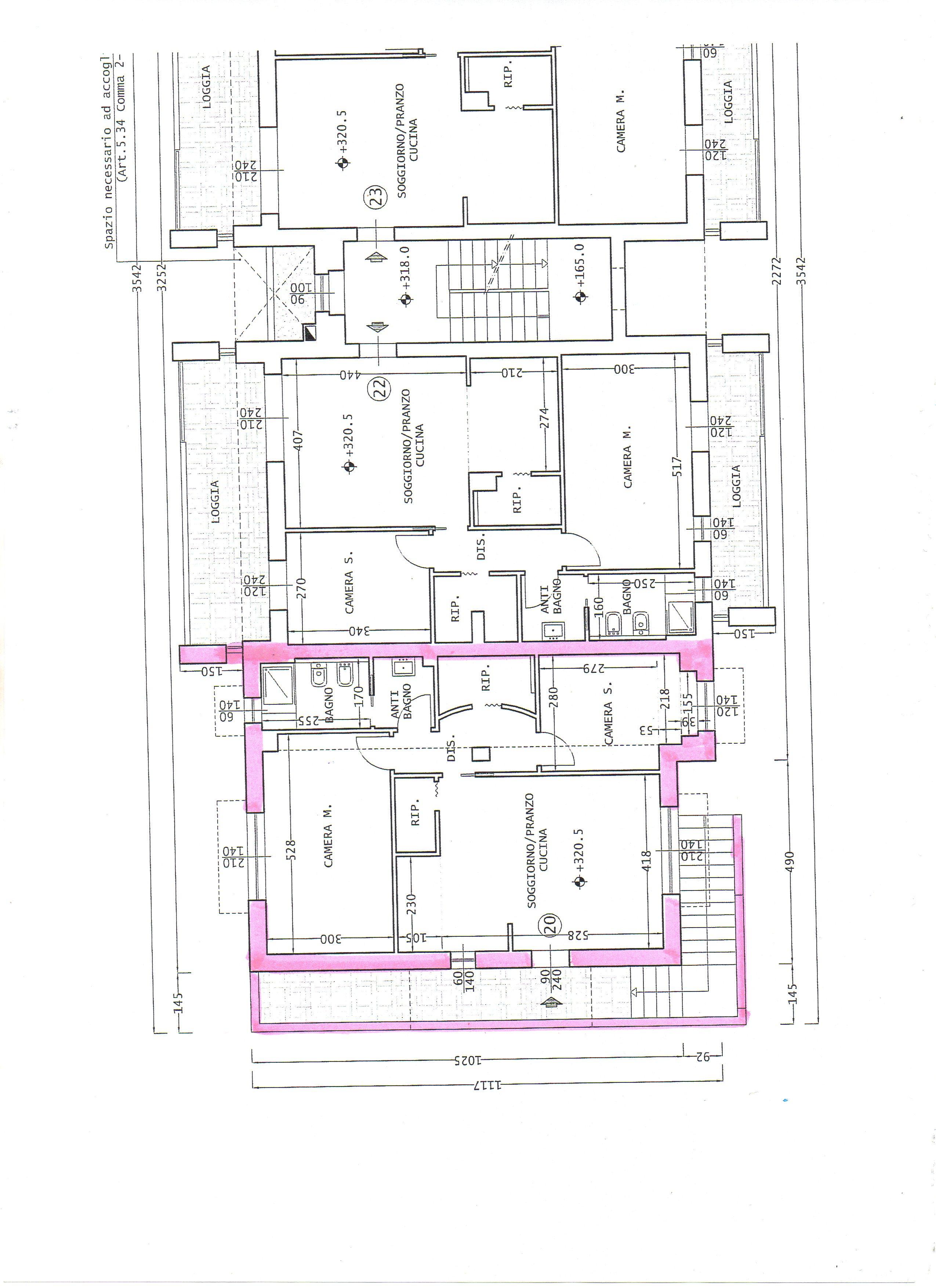 Planimetria 1/1 per rif. 334A