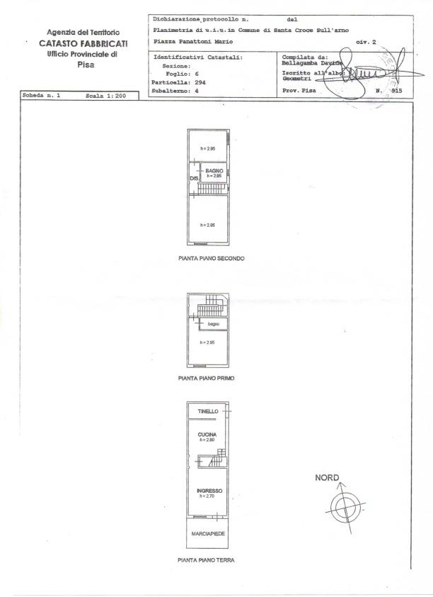 Planimetria 1/1 per rif. 343A