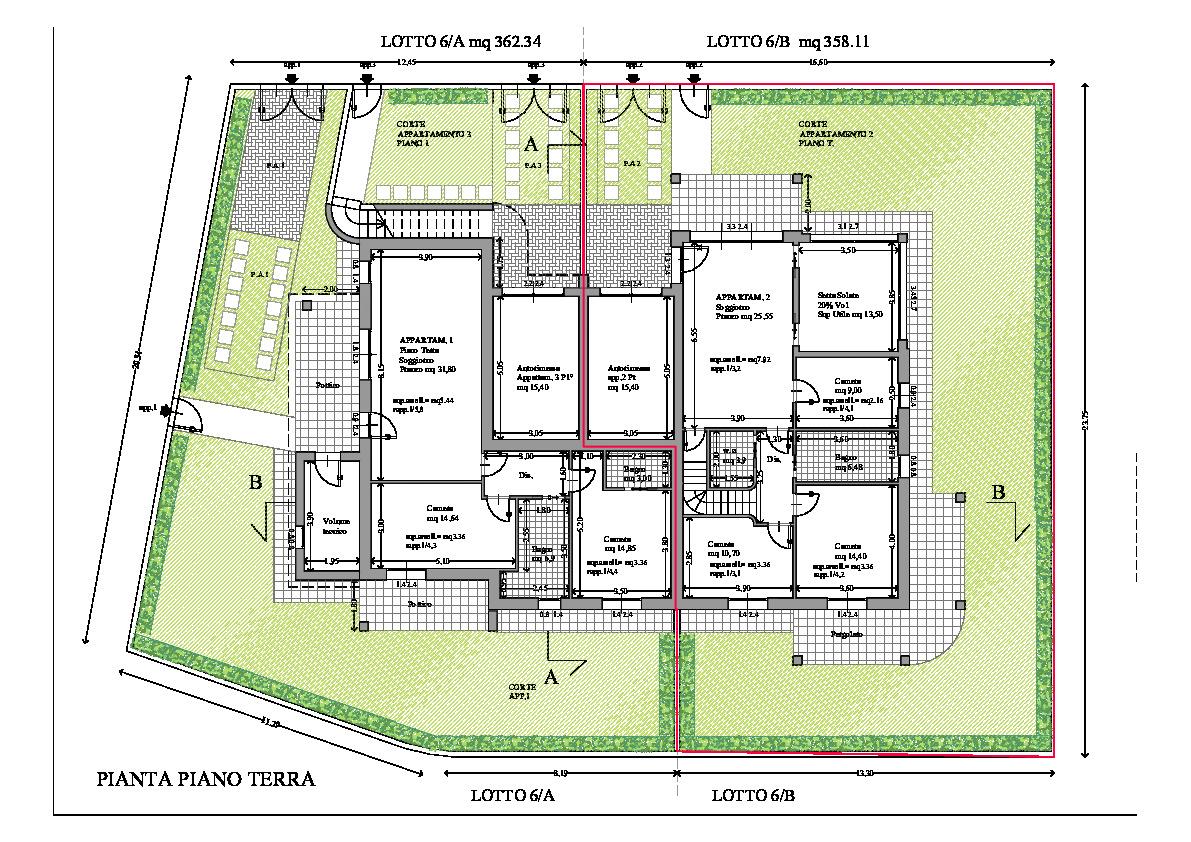 Villetta trifamiliare in vendita, rif. 163 (Planimetria 2/2)