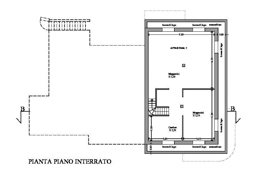 Villetta trifamiliare in vendita, rif. 163 (Planimetria 1/2)