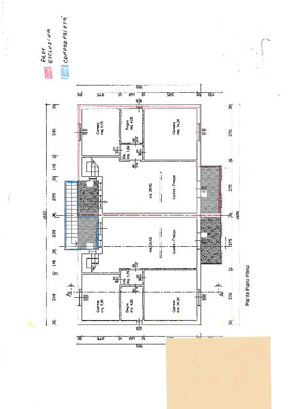 Planimetria 3/4 per rif. S1705