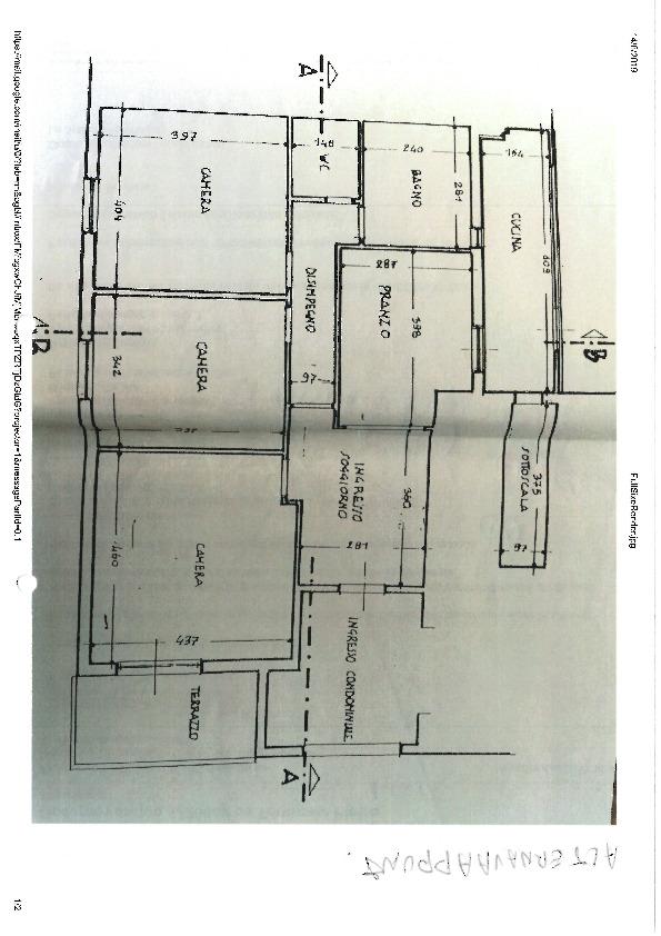 Planimetria 1/1 per rif. D2208