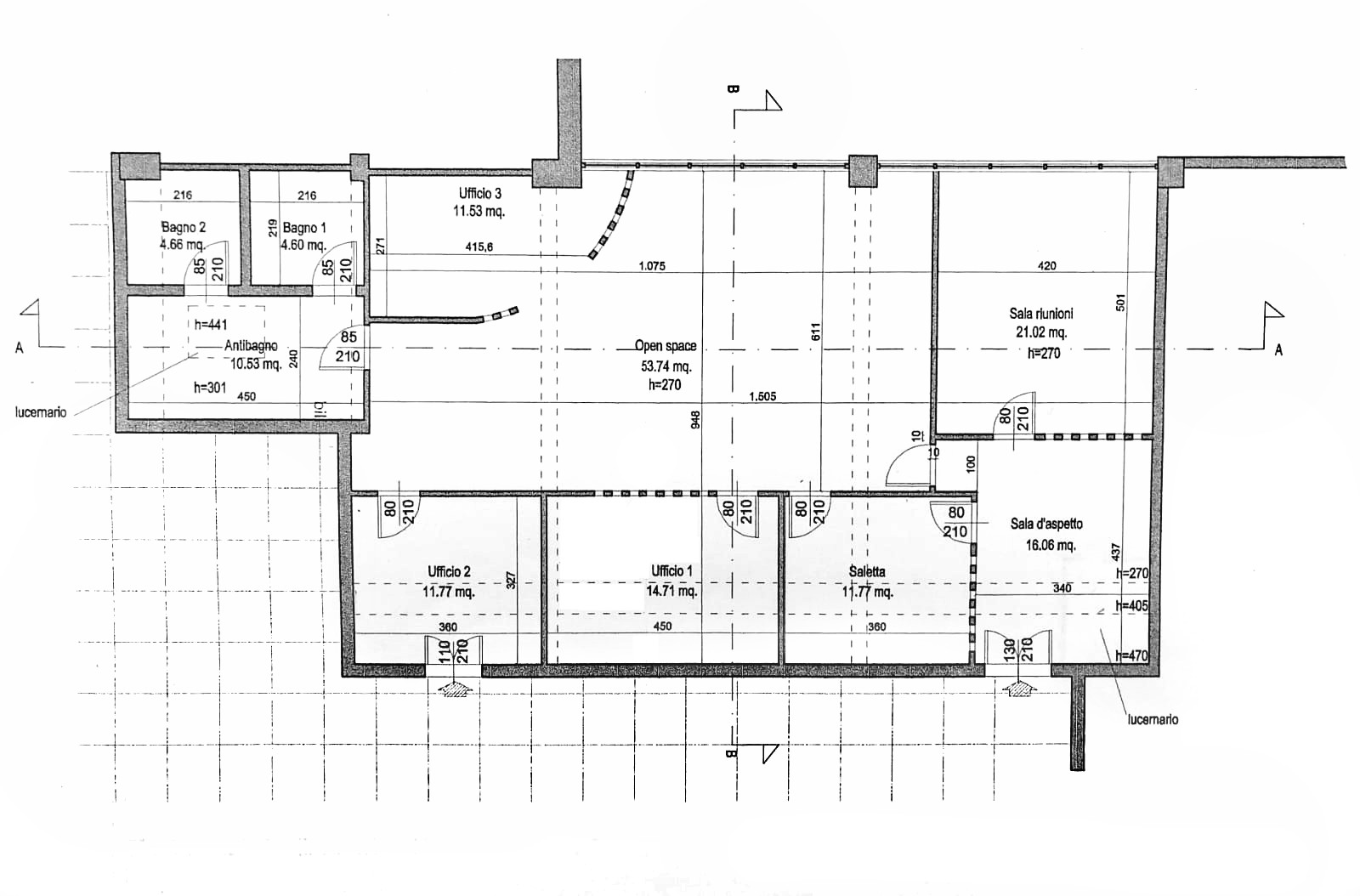 Planimetria 1/1 per rif. D2210