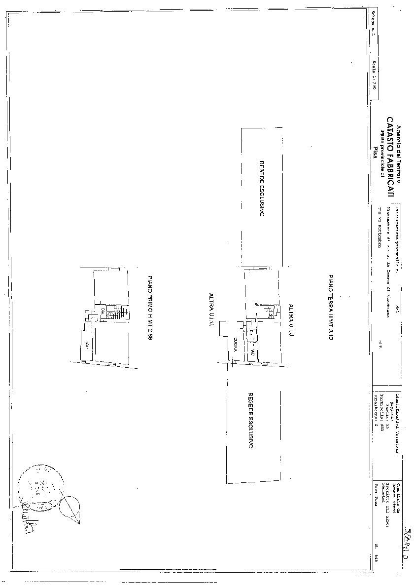 Planimetria 1/1 per rif. S1419