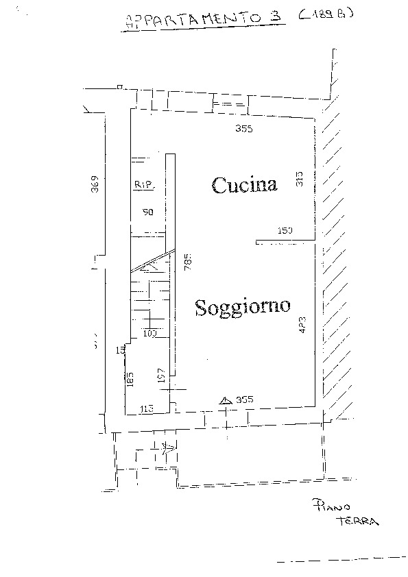 Planimetria 2/3 per rif. D2184