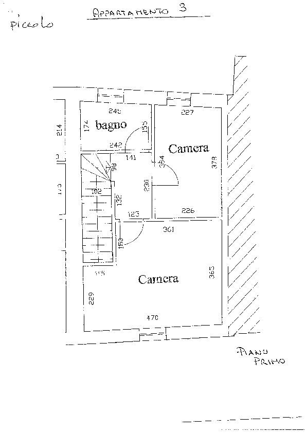 Planimetria 1/3 per rif. D2184