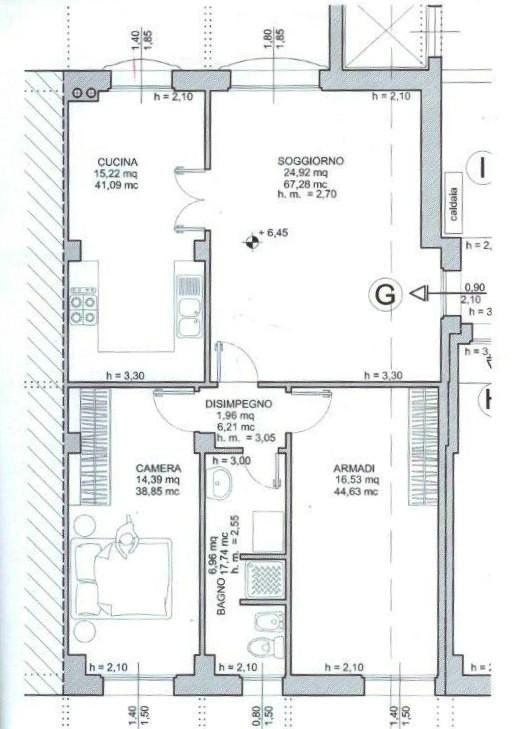 Planimetria 1/1 per rif. AA2136