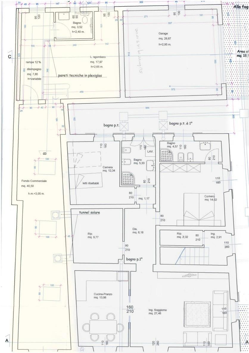 Planimetria 1/1 per rif. S2299
