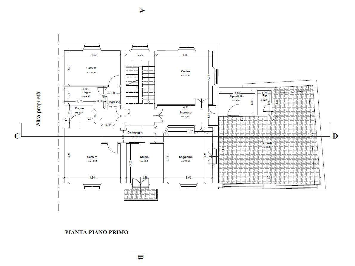 Planimetria 1/1 per rif. D2143