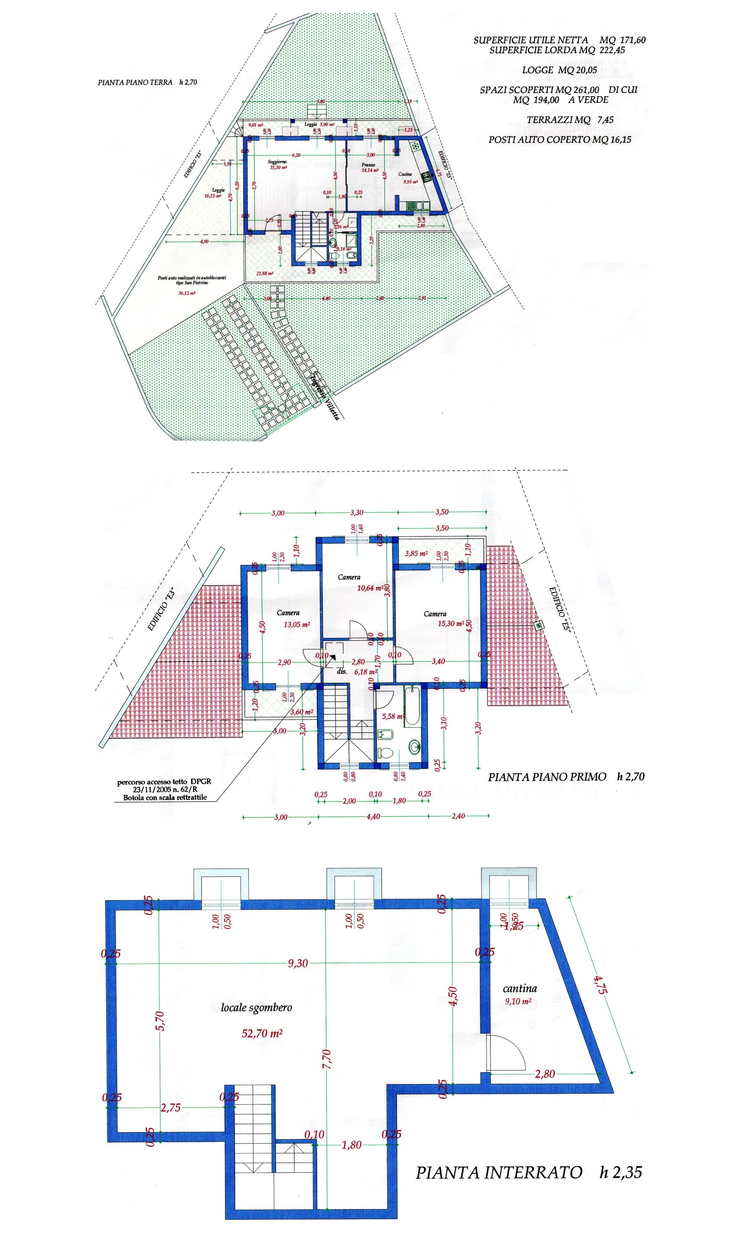 Planimetria 1/1 per rif. S2139