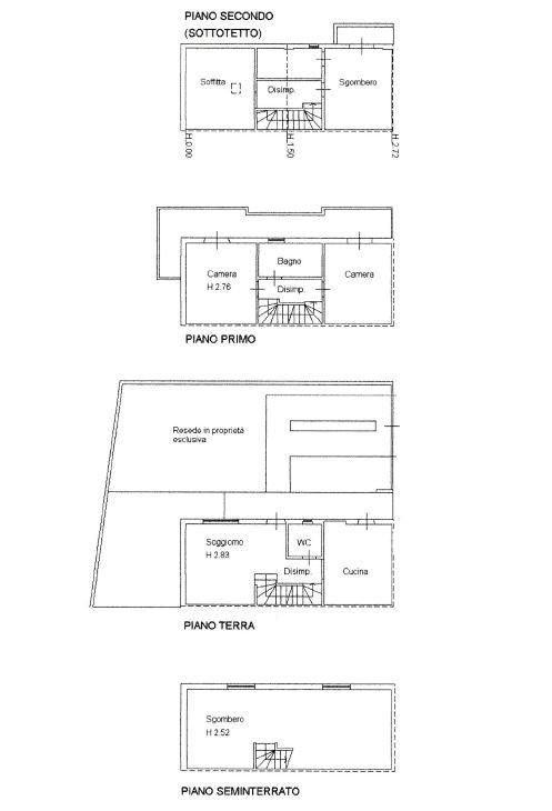 Planimetria 1/1 per rif. D2149