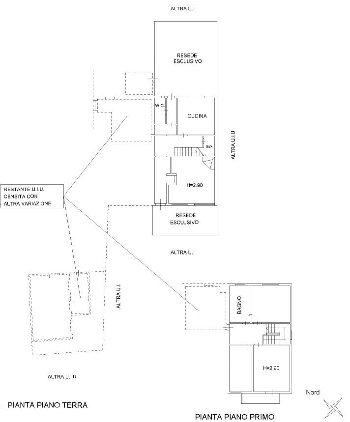 Planimetria 1/2 per rif. D2153
