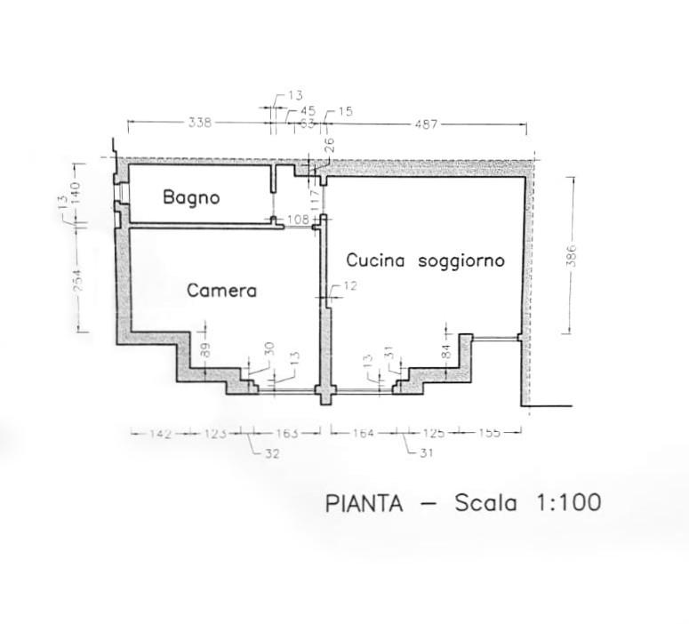 Planimetria 1/1 per rif. D2166