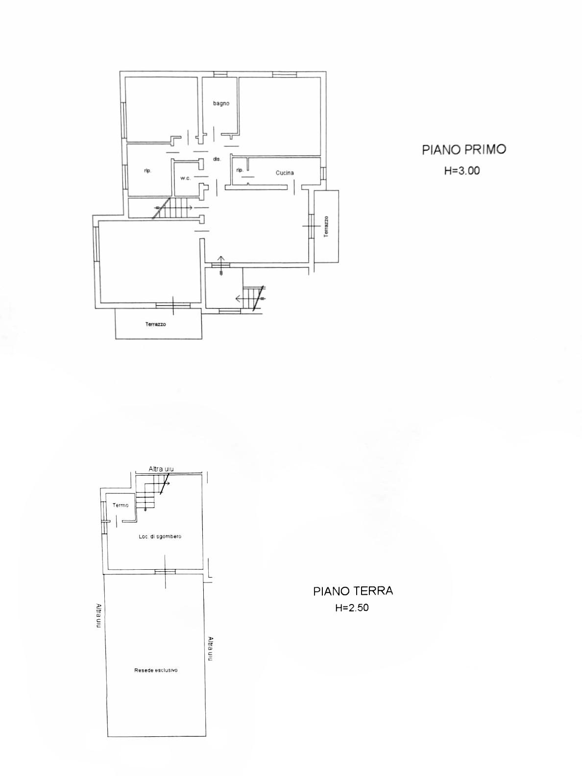 Planimetria 1/1 per rif. B2135
