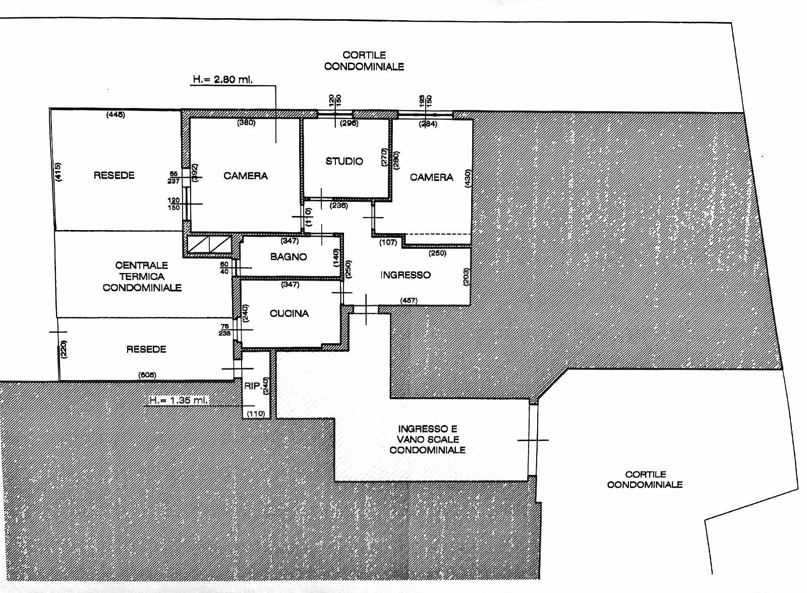 Planimetria 1/1 per rif. S2157
