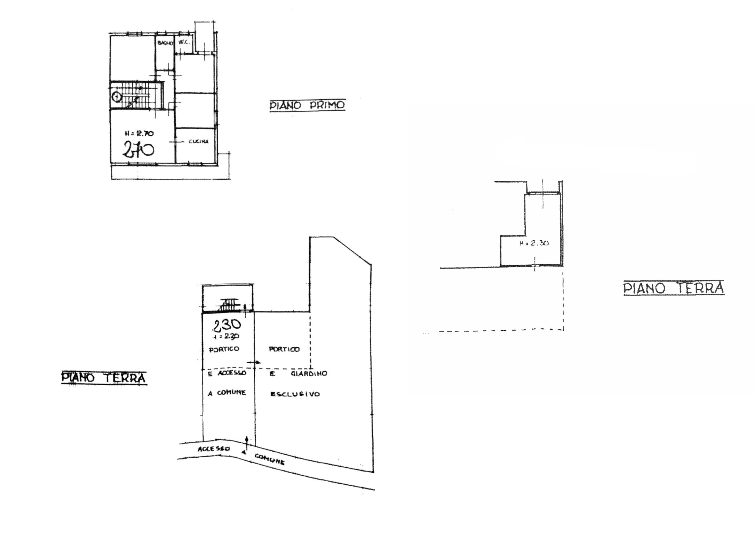 Planimetria 1/1 per rif. G2161