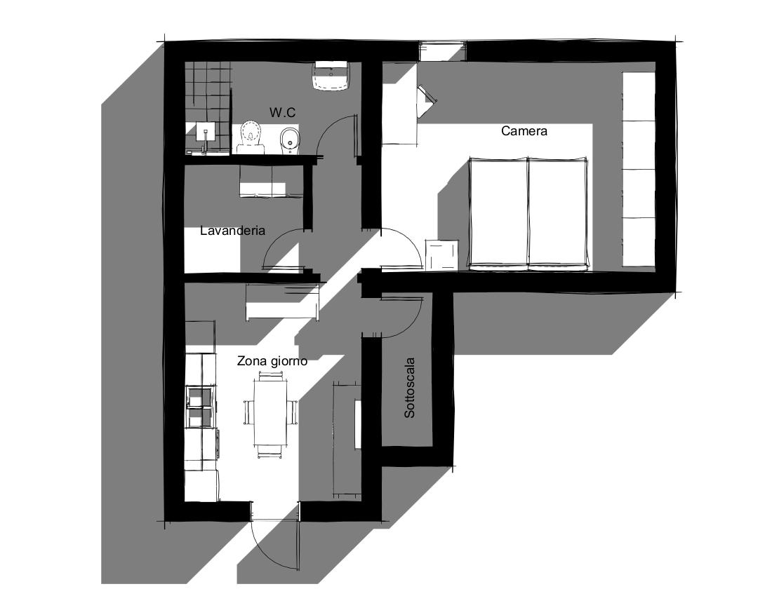 Planimetria 1/1 per rif. S2165