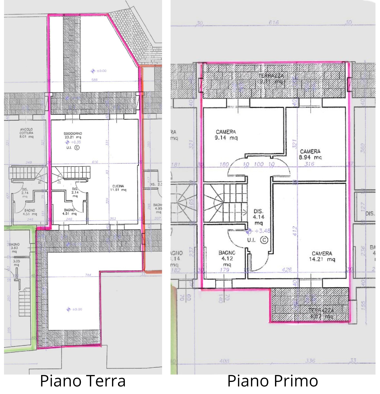 Planimetria 1/2 per rif. S2212
