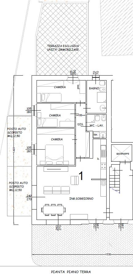 Planimetria 3/4 per rif. S2219