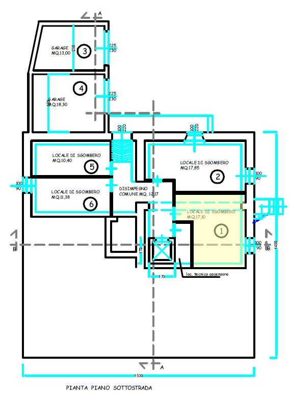 Planimetria 2/4 per rif. S2219