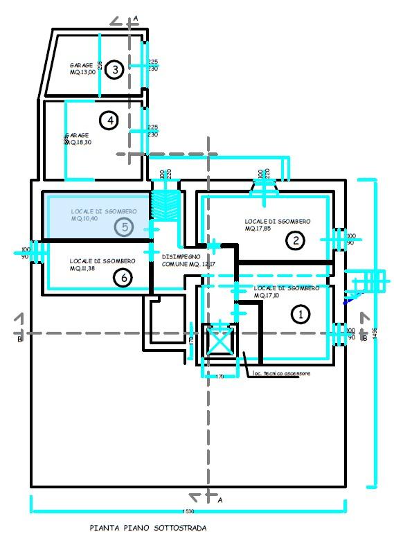 Planimetria 3/4 per rif. S2221