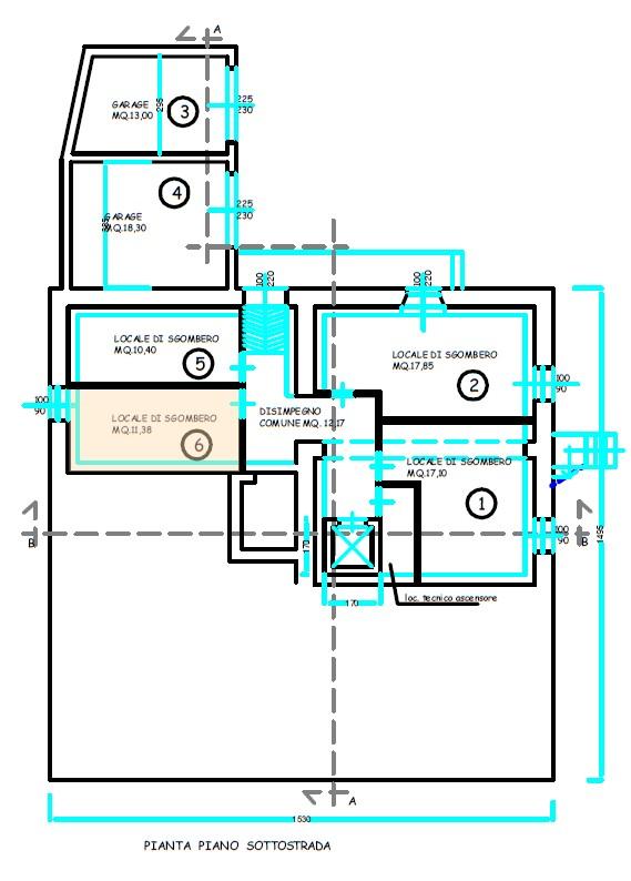 Planimetria 3/4 per rif. S2222