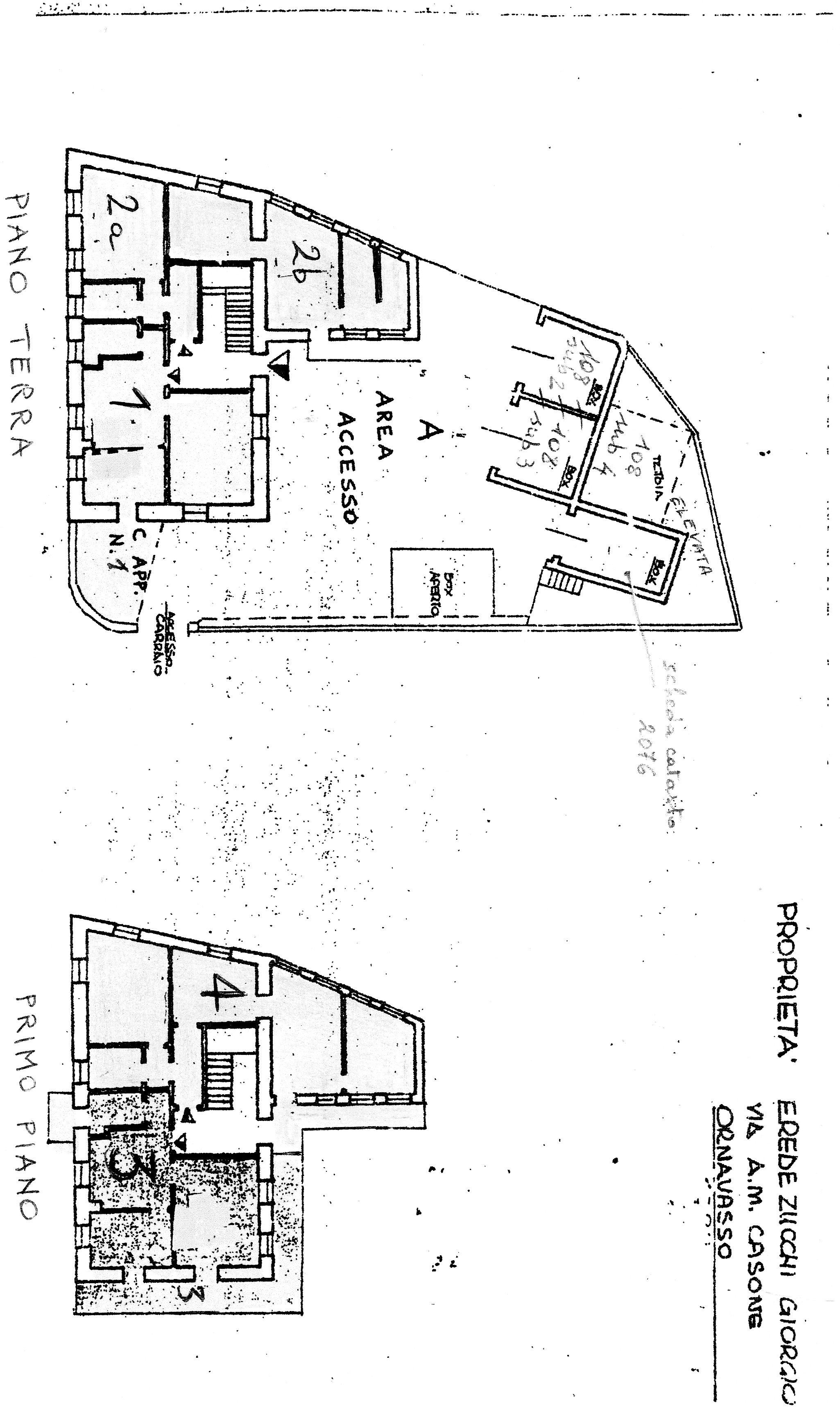 Planimetria 1/2 per rif. G2181