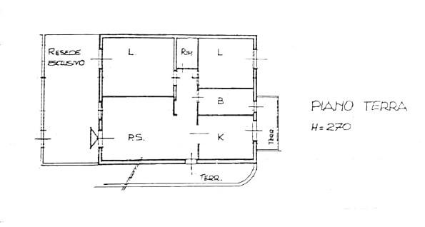 Planimetria 1/2 per rif. D2221