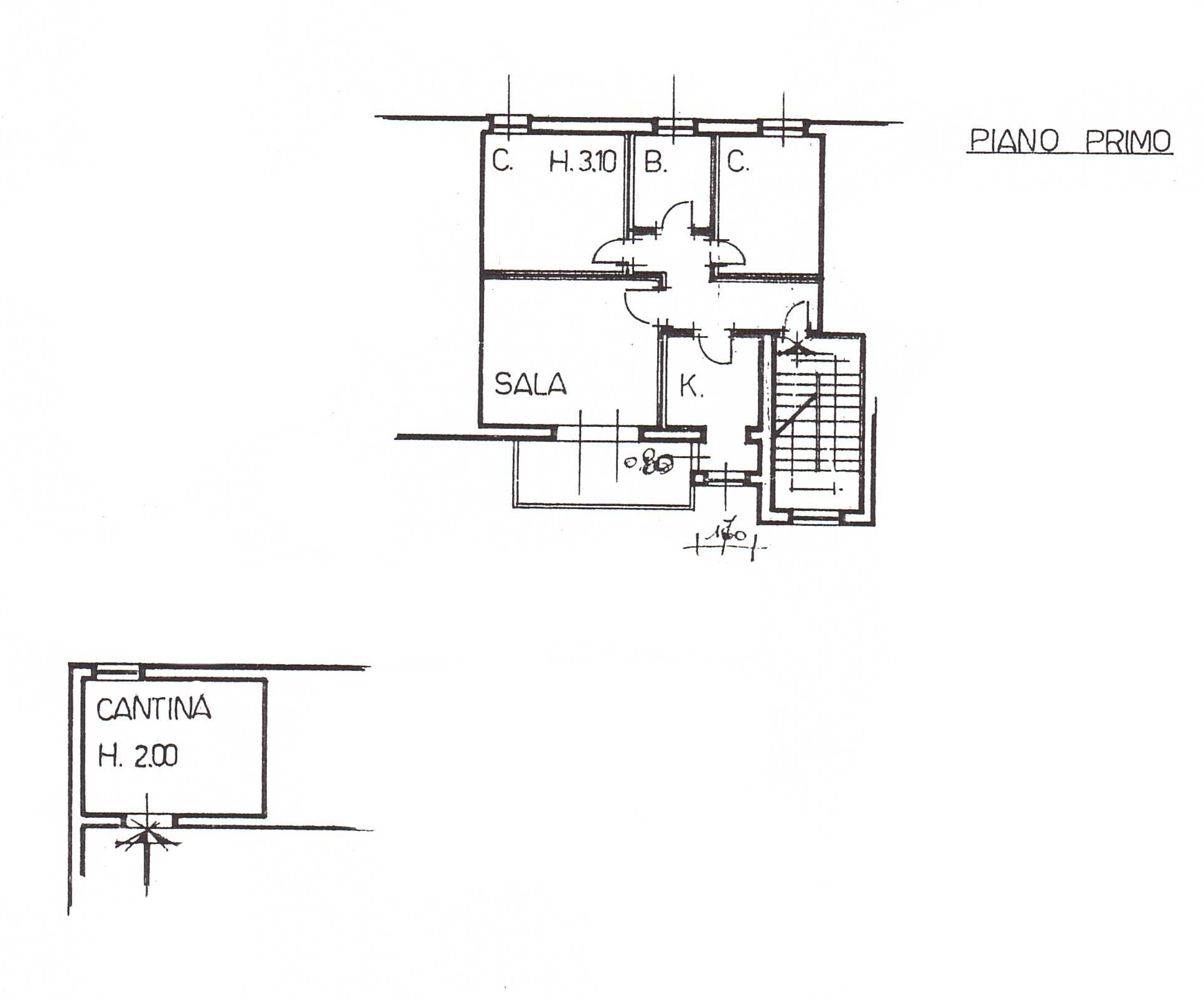 Planimetria 1/1 per rif. G2237