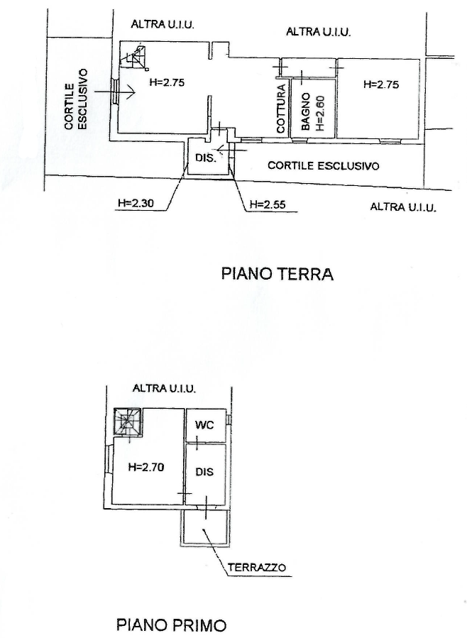 Planimetria 1/1 per rif. S2248