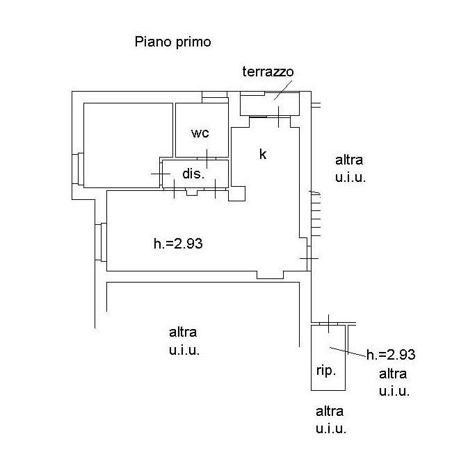 Planimetria 1/1 per rif. D2242