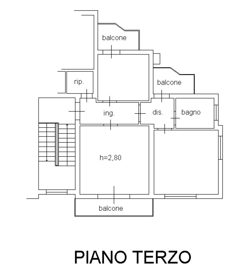 Planimetria 1/1 per rif. S2271