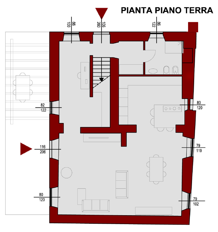 Planimetria 2/4 per rif. S2274